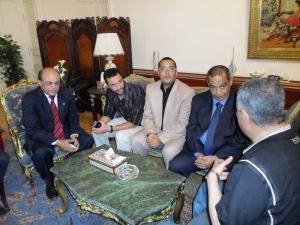 وزير التربية والتعليم يستقبل الحسينى محمد _ الخوجة  096