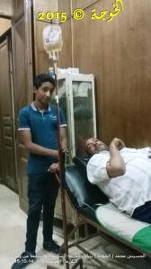 الحسينى محمد يتناول الجرعة السادسة والسابعة +محلول الادرار 14-10-2015