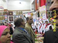 رافت السنباوى فى معرض التعليم الفنى بقويسنا2016